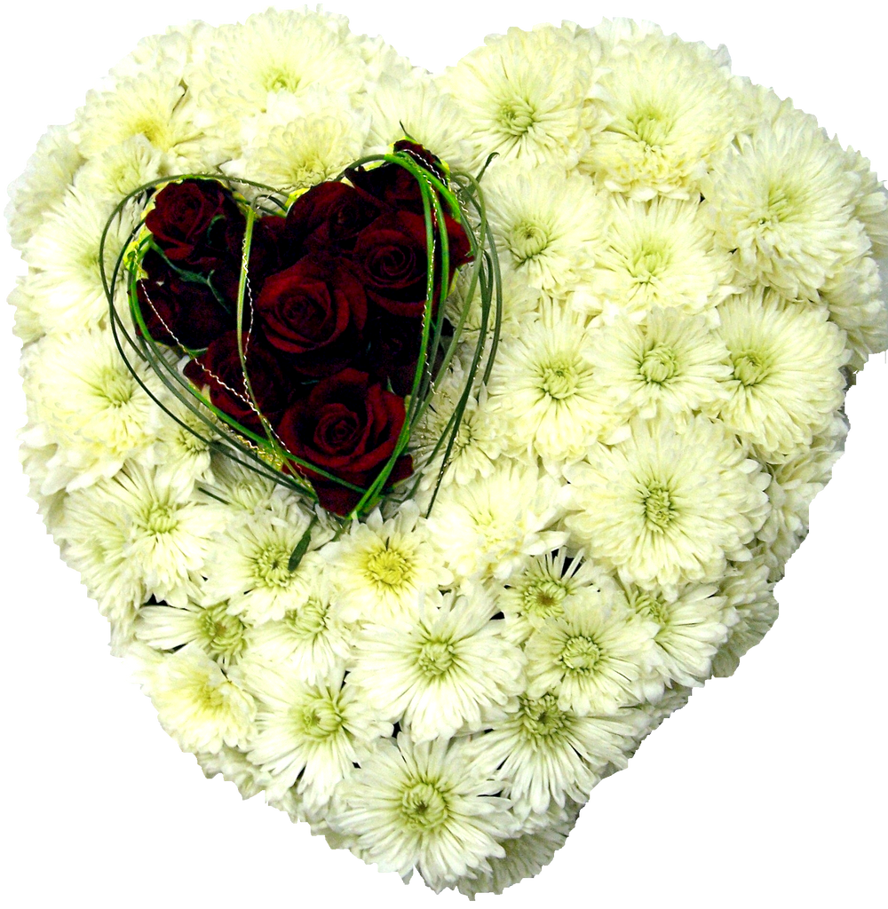 Heart Wreath Funeral Flowers Brisbane
