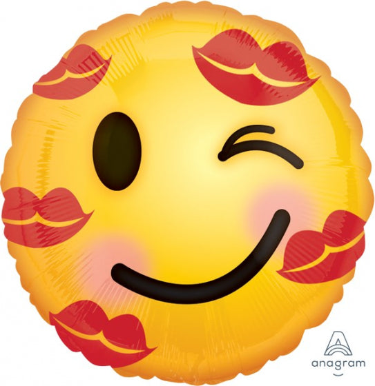 Kisses Emoticon Helium Balloon