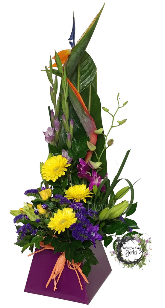 Modern flower arrangement