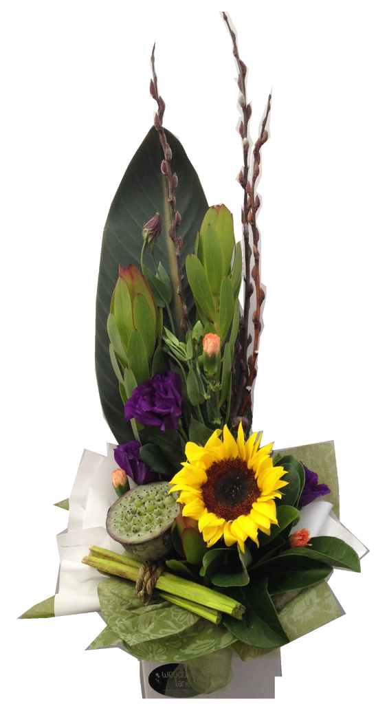 Modern arrangement of flowers