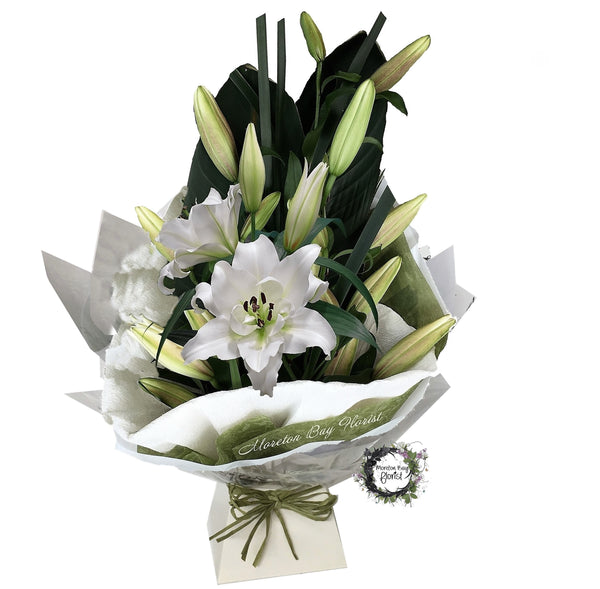 White Oriental Lily Bouquet