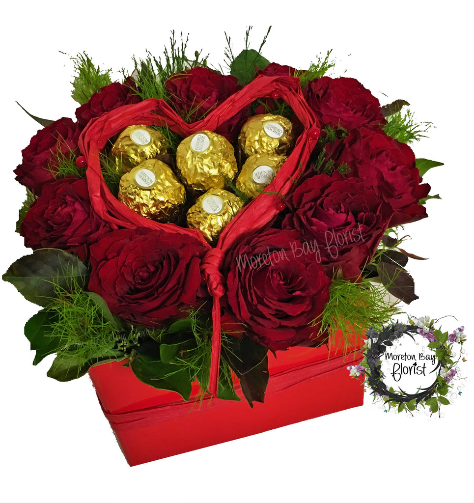Roses and Ferrero Rocher Box