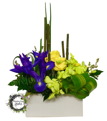 Modern premium arrangement in ceramic container