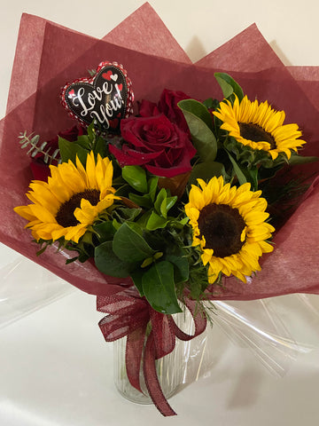 Rose & Sunflower Bouquet