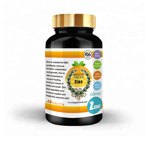 Organic Greek Vitamin Zink  Natural Non GMO Supports Production of Energy , Red Blood Cells, Healthy Nervous System and Energy Metabolism