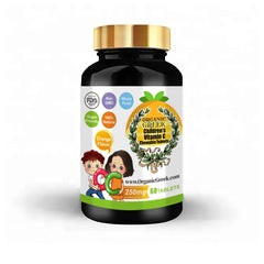 Organic Greek Vitamin C for Kids  250mg Natural Non GMO Vegan Supports Immune System  and Growth Development