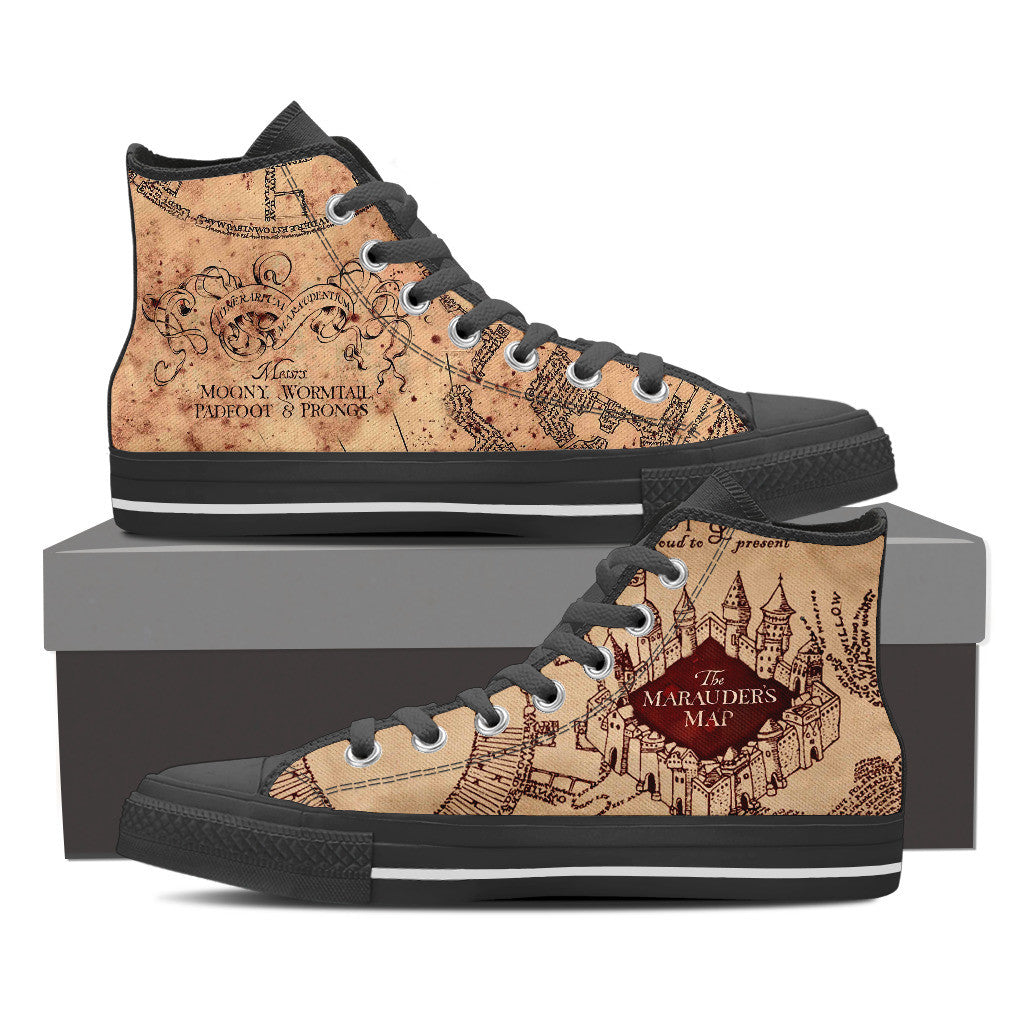 Marauders Map Shoes Harry Potter The Marauder's Map Shoes For Women – Moovie Shop