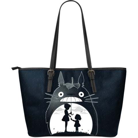 Totoro -  Large Leather Tote Bag