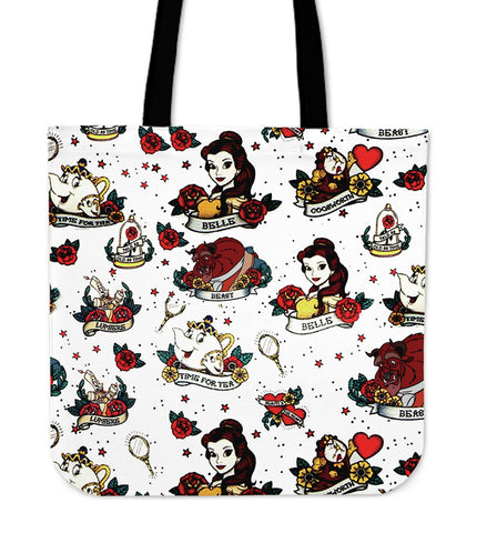 Beauty and The Beast Character's Tote Bag