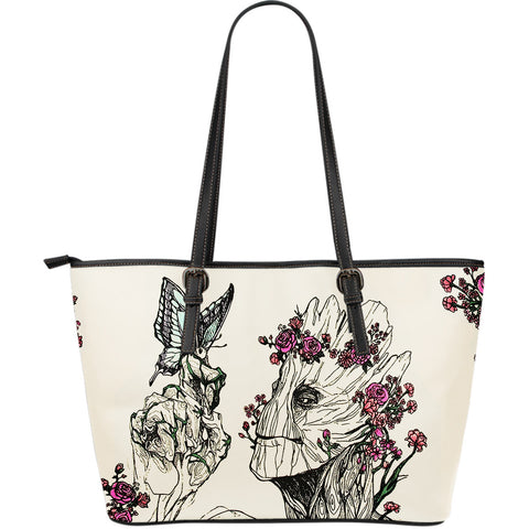 A Lovely  Groot Floral Crossbody Large Leather Bag