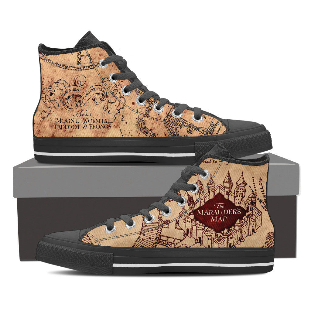 Marauders Map Shoes Harry Potter The Marauder's Map Shoes For Men – Moovie Shop