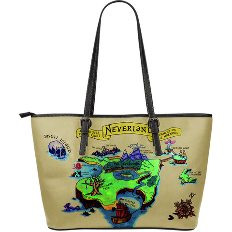 Neverland Large Leather Tote Bag