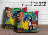 Beauty & The Beast Pillow Cover