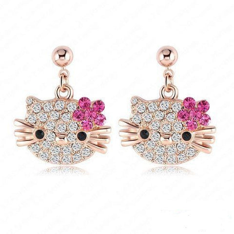 Lovely Kitty Earrings for Girls, Women