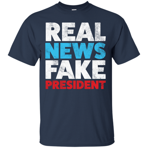 Anti Trump Shirt Real News Fake