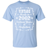 169.1 16th Birthday Gift Vintage 2002 Tee Sixteen Years Perfection