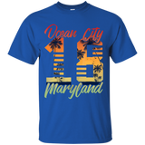 10 OCEAN CITY MARYLAND T SHIRT MD BEACH PALM TREES SUMMER 2018