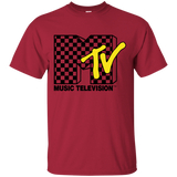 6 MTV CLASSIC VANS CHECKER LOGO ROCK T-SHIRT