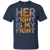203 Mens Her Fight is My Fight Multiple Sclerosis Support Tee, MS Tee