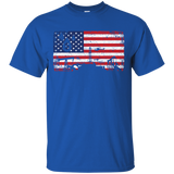 1333 Oilfield Patriotic Flag US T-Shirt