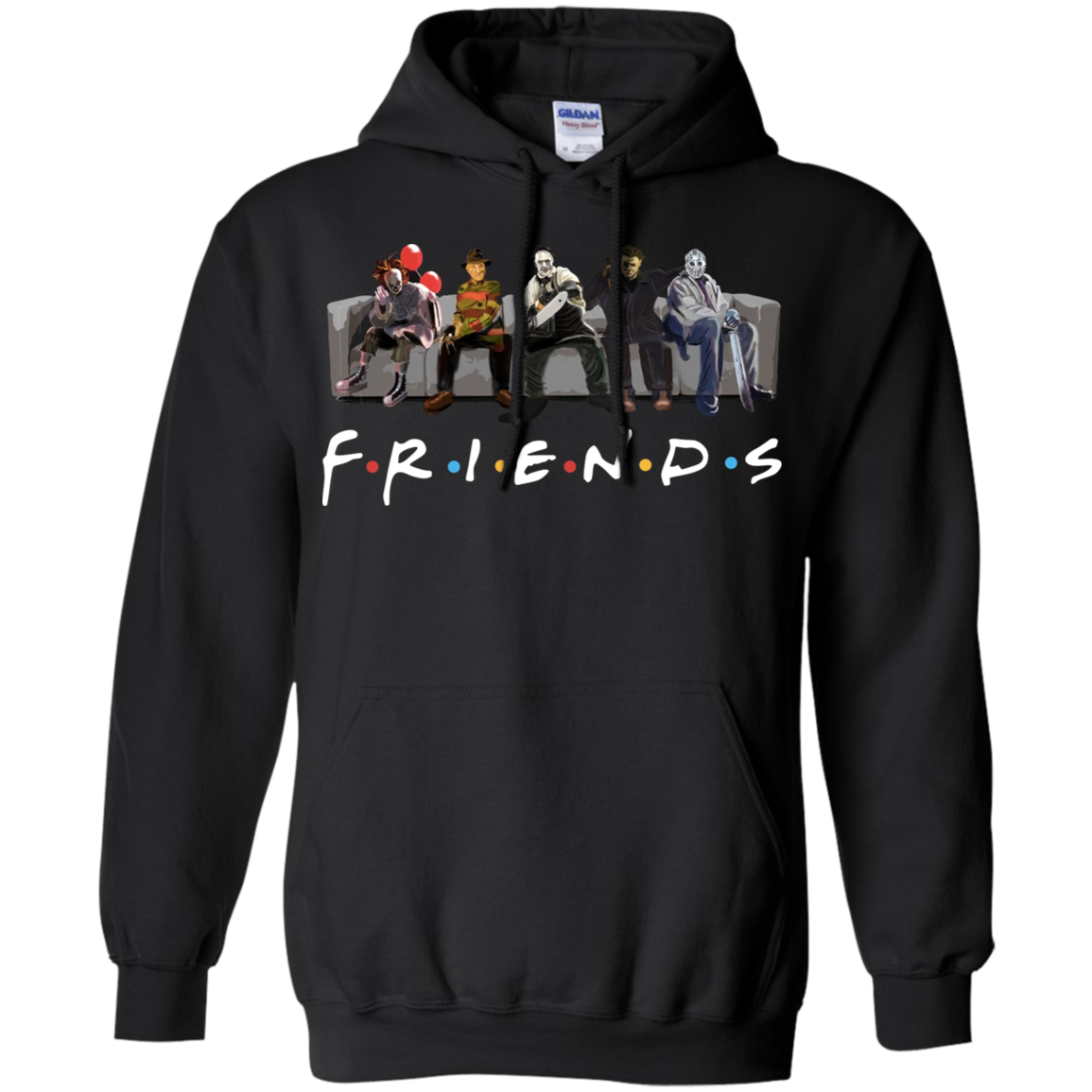 friends_aw Horror Friends Freddy Jason Michael Myers Hoodie