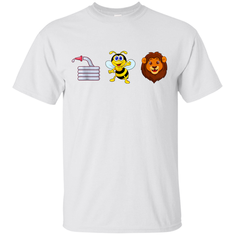 22 HOSE BEE LION FUNNY MEANING T-SHIRT HOES BE LYING DOUBLE