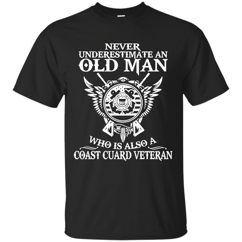 11 Never underestimate an old man coast guard veteran tshirt