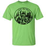 153 Camping Hiking I Hate People I Eat People Funny Bear T shirt