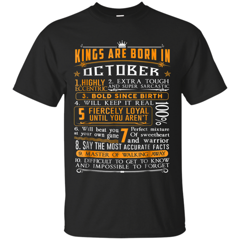 16 KINGS ARE BORN IN OCTOBER T-SHIRT