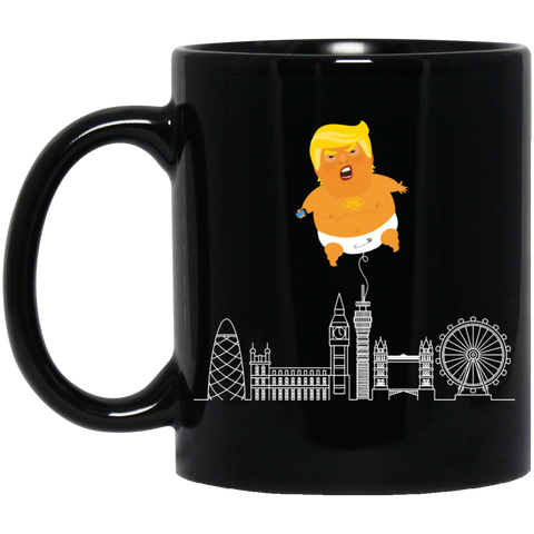 Baby Trump Ballon 11oz Black Mug