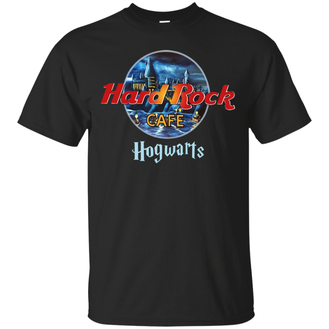 hard_rock_aw Hard Rock Cafe Hogwarts Harry P0tter T Shirt Black Cotton Men M-3XL