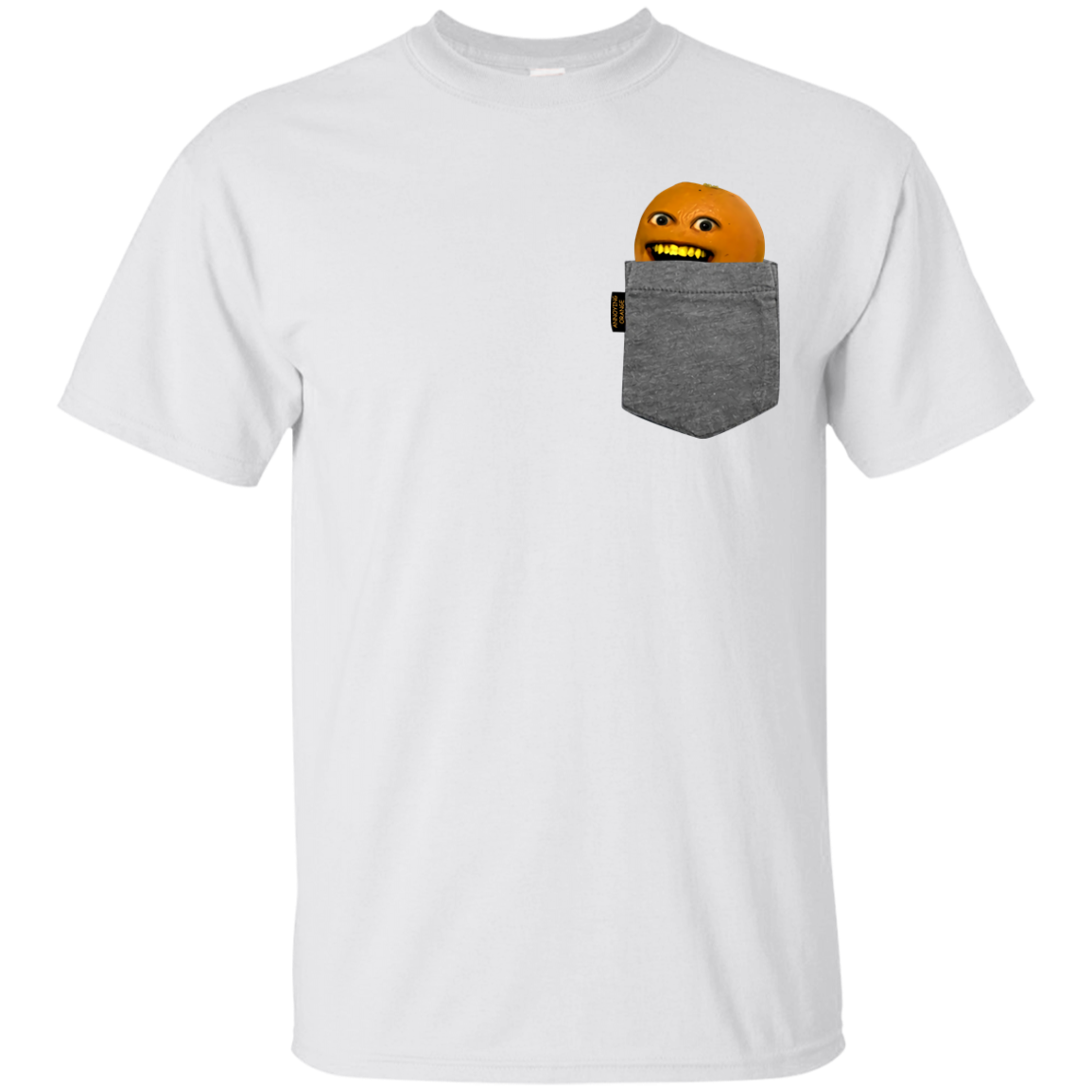 Annoying Orange Pocket Orange – Fake Pocket – Youth T-Shirt