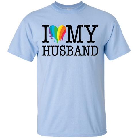 16 RAINBOW HEART I LOVE MY HUSBAND T-SHIRT