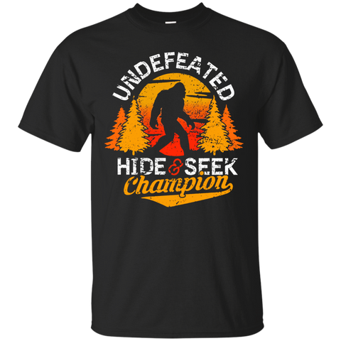 Bigfoot T Shirt Undefeated Hide and Seek Champion