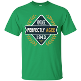 20 FUNNY 75TH BIRTHDAY T-SHIRT VINTAGE PERFECTLY AGED 1943