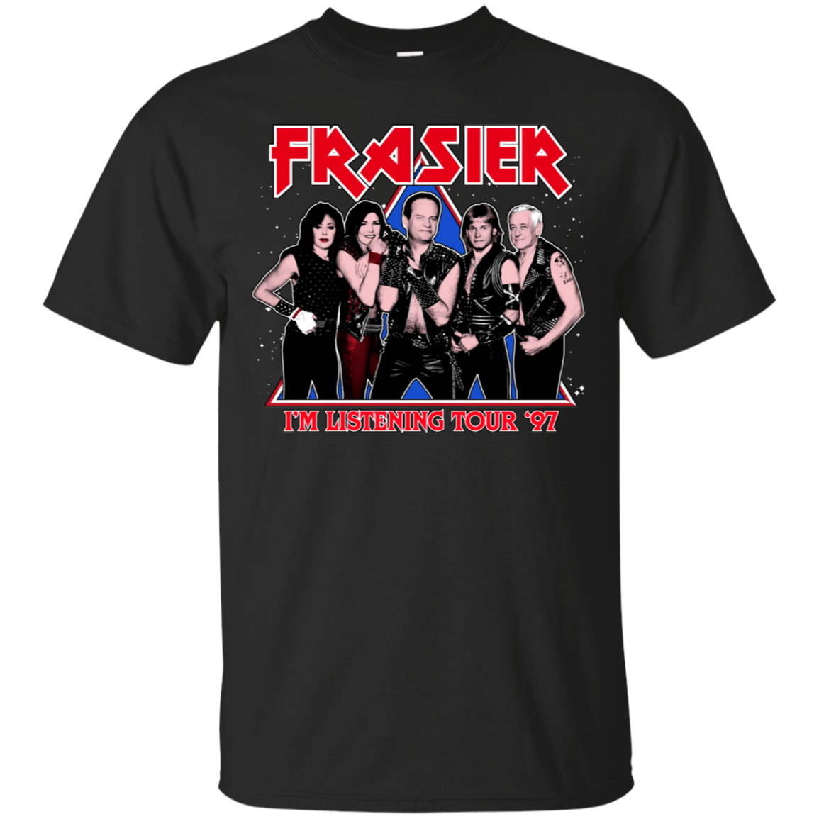 Frasier_aw Frasier I'm Listening Tour 97 T Shirt Black Cotton Men T-Shirt M-3XL