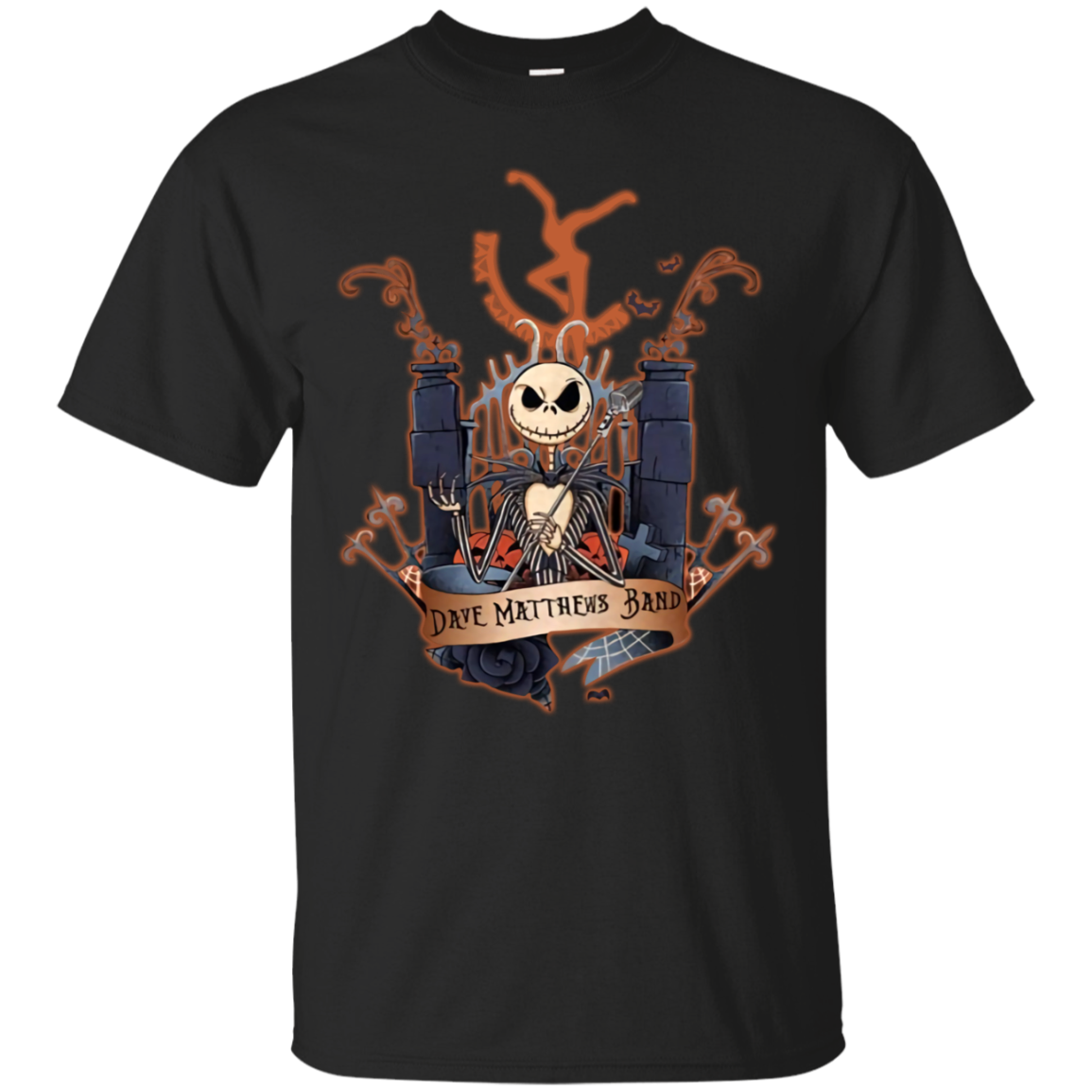 Dave_matthews_aw Jack Skellington Dave Matthews Band T-Shirt Black Cotton Men M-3XL Shirt