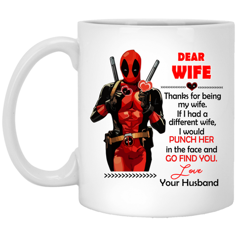 148 Deadpool Thanks For Being My Wife Mug
