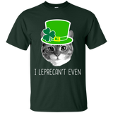 1404 I Leprecan't Even Funny St. Patrick's Day Cat Tee