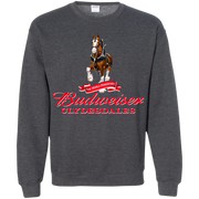 Budweiser 'The World Renowned Clydesdales G180 Gildan Crewneck Pullover Sweatshirt  8 oz.