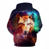 3D Hoodies Men Printed Wolf