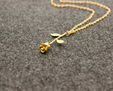 Beauty And The Beast Rose Necklaces