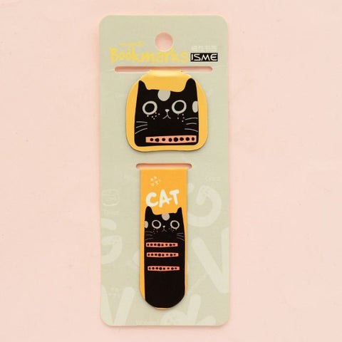 2 pcs/pack Lovely Cat Magnet Bookmark