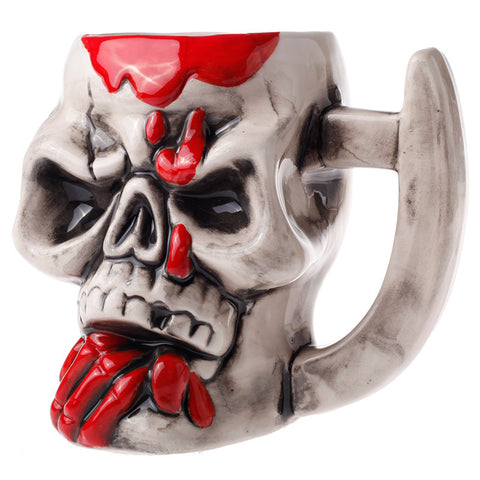 Pirate Skull Shape Ceramic Coffee Mug