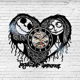 The Nightmare Before Christmas Black Vinyl Record Wall Clock