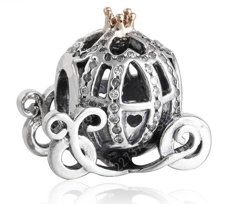 Cinderella Pumpkin Carriage Charm Beads For Women