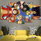 5 Piece Canvas Painting One Piece