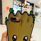 Cute Groot Soft Silicon Phone Case Cover for iPhone