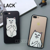 Funny Cartoon Cat Case For iPhone7 PLus 6 6S 5 5S