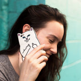 Pocket White Cat Phone Case For iPhone 4 4S 5 5S SE 6 6S 6Plus 6SPlus